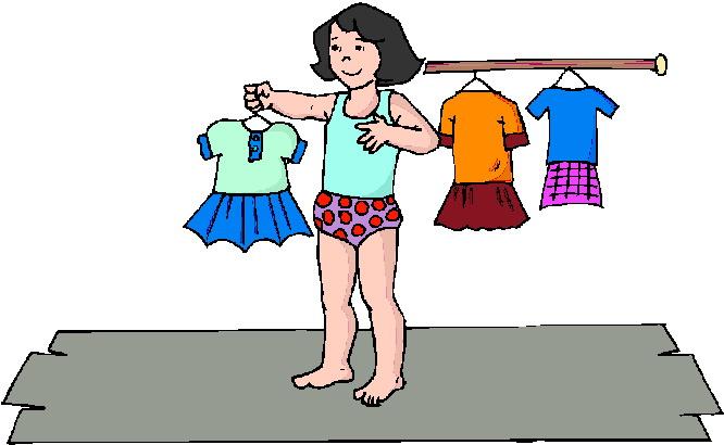 clip art girl getting dressed - photo #30