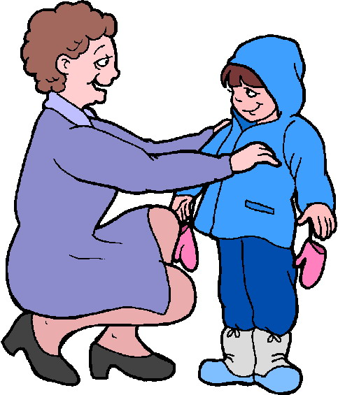 Free coloring pages of child getting dressed