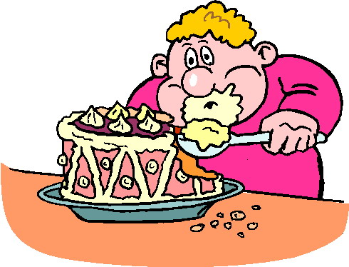 Baby Eating Cake Clipart : Eating Clip Art