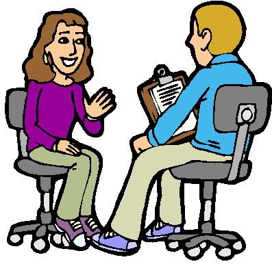 Interviewing clip art