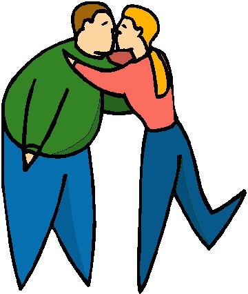 Kissing clip art