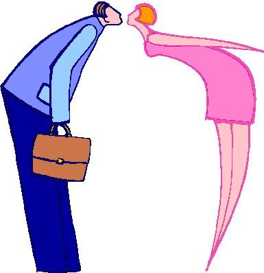 Kissing clip art