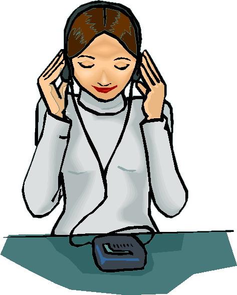 Listen Clip Art Listening to Music Clip Art