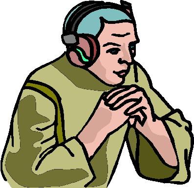 Listening to music clip art