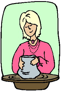 Making pottery clip art