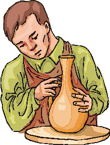 Making pottery clip art