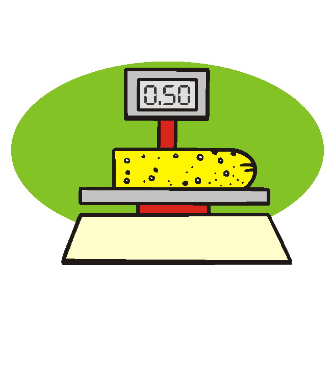 Measuring and weighing clip art