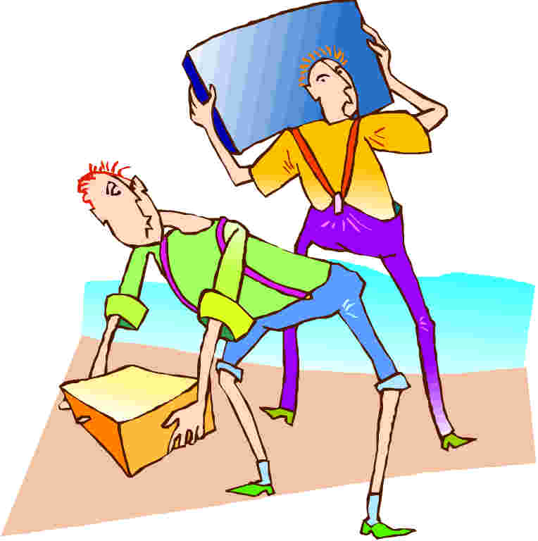 Moving clip art