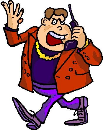 Phoning clip art