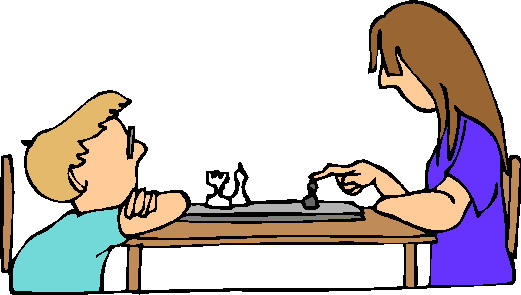 Playing chess clip art