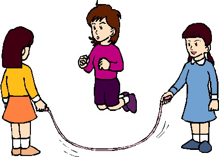 Playing children clip art