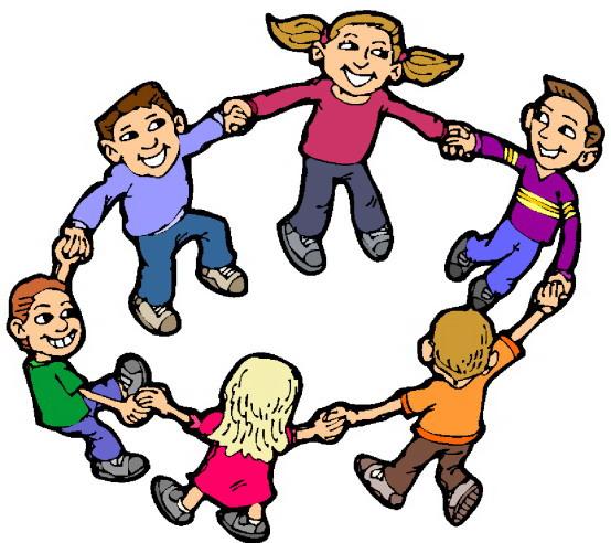 Clip art » Playing children
