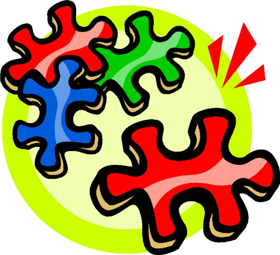Puzzling clip art
