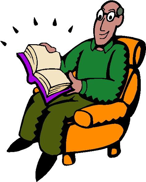 cartoon person reading a - photo #9