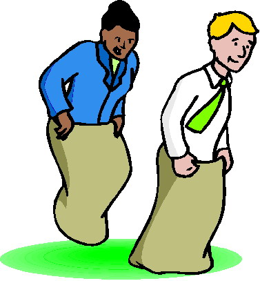 Clip art Activities Sack racing