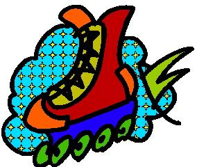 Skating clip art