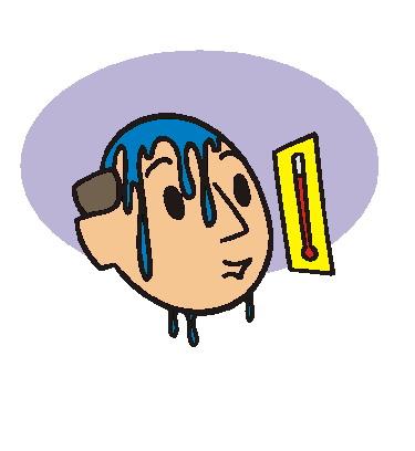 Sweating clip art
