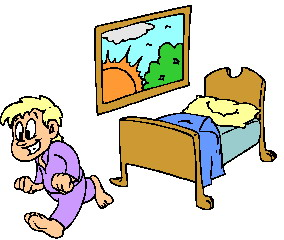 Waking up clip art