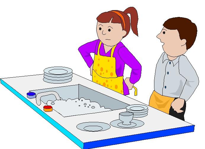 Washing up clip art