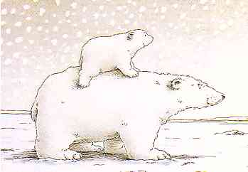 Little polar bear clip art