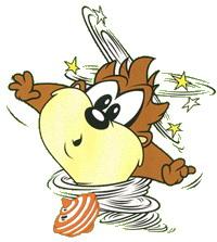Baby tasmanian devil cartoon spinning - photo#4