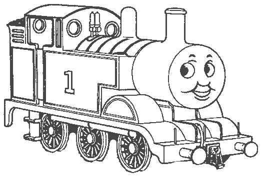Thomas tank engine clip art for Printable thomas the train coloring pages