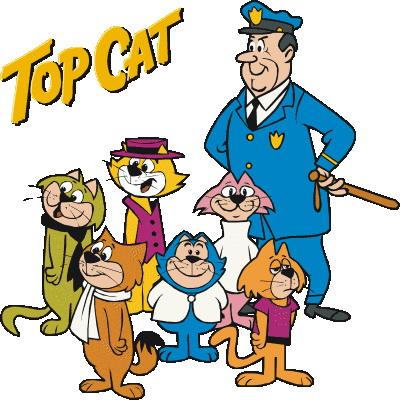 Top cat clip art