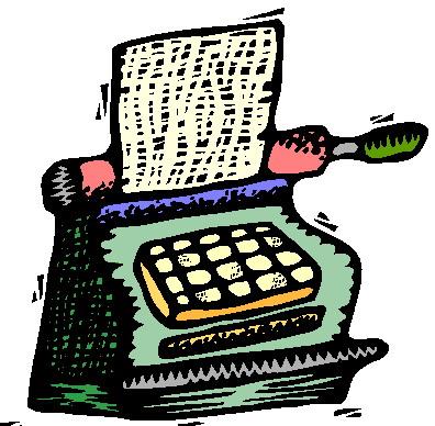 Typewriter clip art