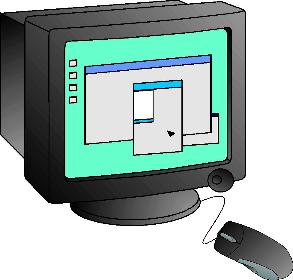 clip art clip art monitors 016131