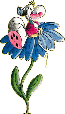 Diddl flowers clip art