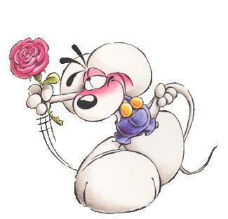 Diddl flowers clip art