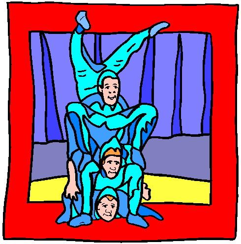Acrobats clip art