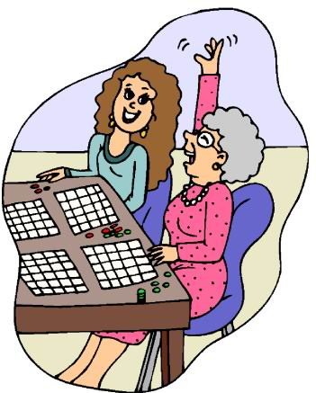 Bingo is a popular activity at Lakewood Villa