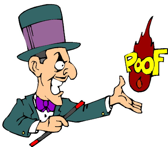 Magic tricks clip art