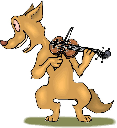 Music animals clip art