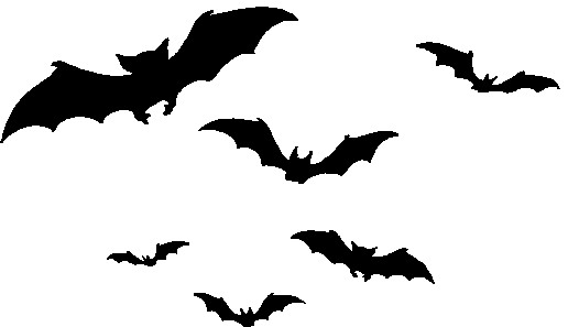 Pics Photos Black Flying Bats Halloween Clip Art Free
