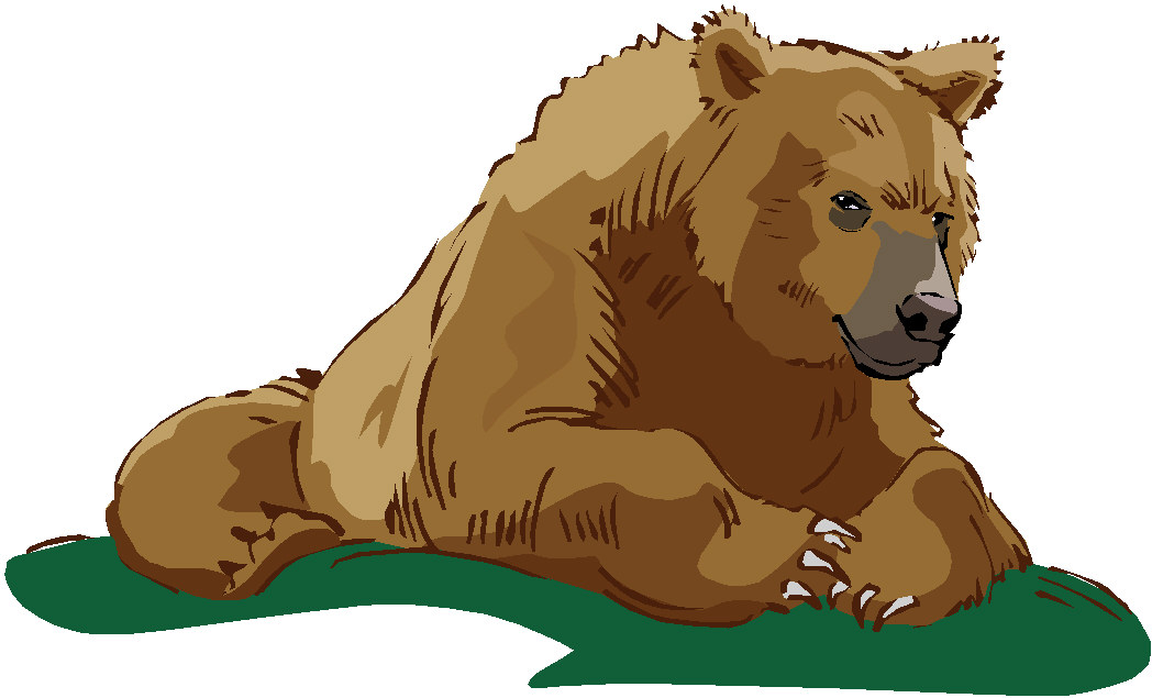 Cute grizzly bear clipart - photo#28
