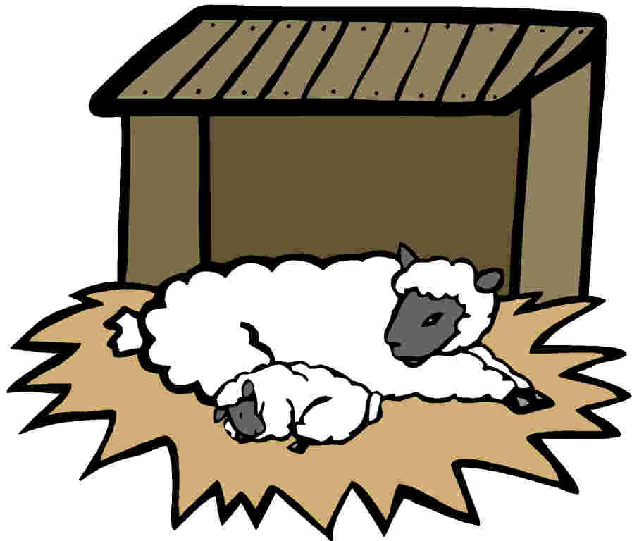 Sheep house clipart - photo#3
