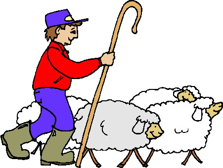 Sheep And Shepherd Clipart