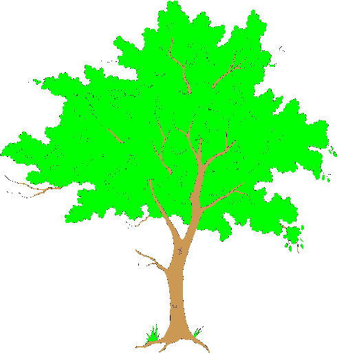 clipart trees and flowers - photo #12