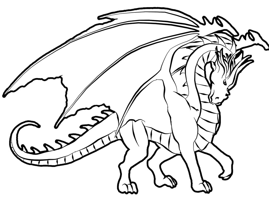 Coloring pages Animal coloring pages Dragon