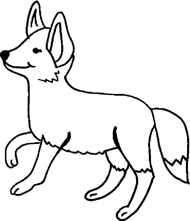 Coloring Page Fox Animals Coloring Pages 12 Fox Coloring Page