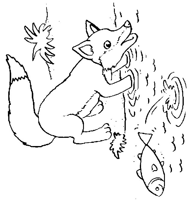 Free Coloring Pages Of Baby Fox Fox Coloring Page