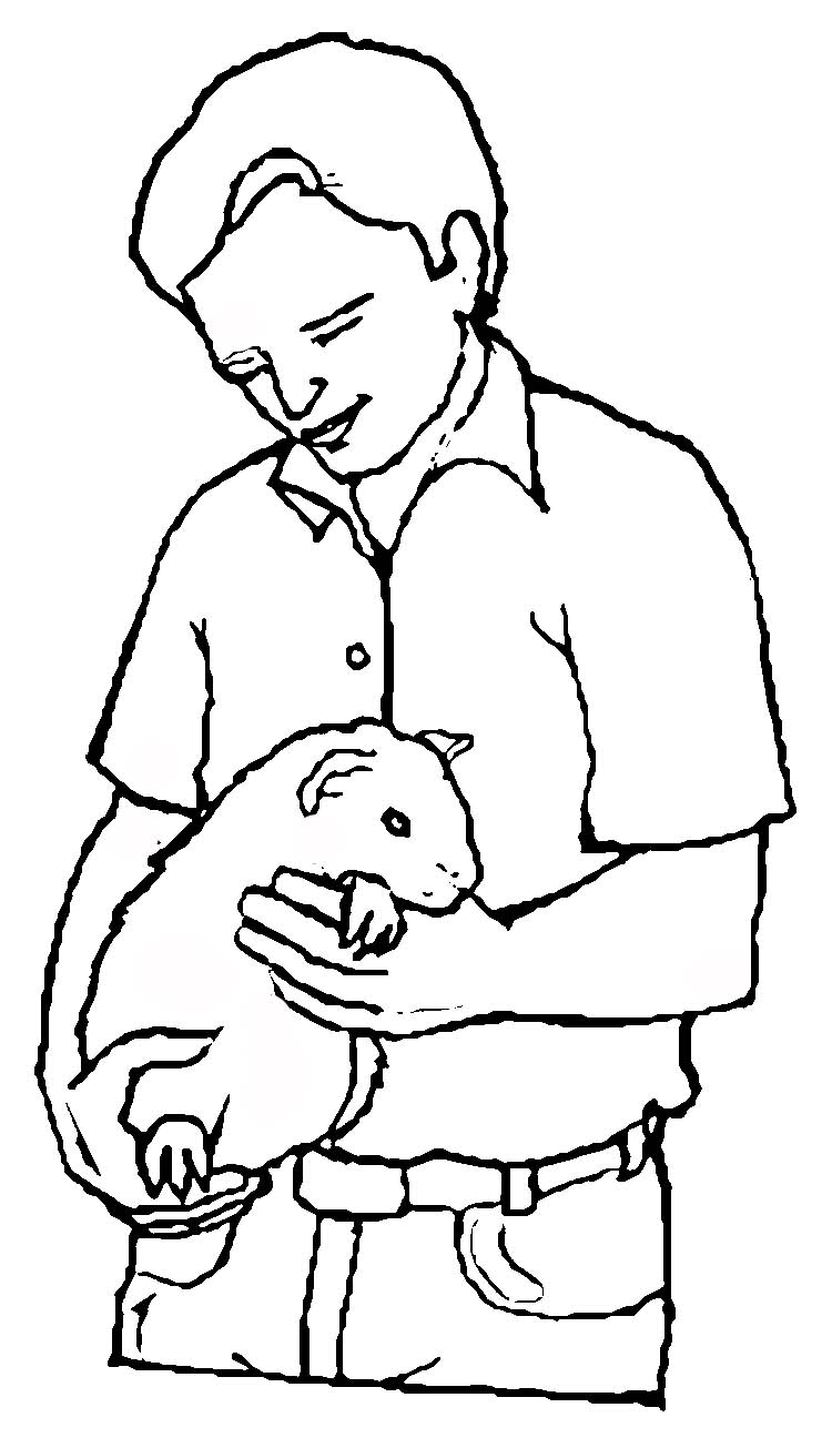Guinea Pig Coloring Page Animal Coloring Page | PicGifs.com