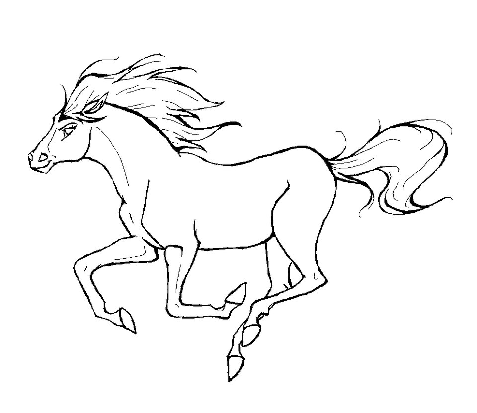 Attractive Coloring Horse Pages Vignette - Ways To Use Coloring ...