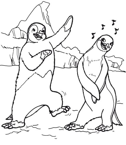 Pinguin coloring pages