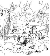 Wolves Coloring pages Animal coloring pages