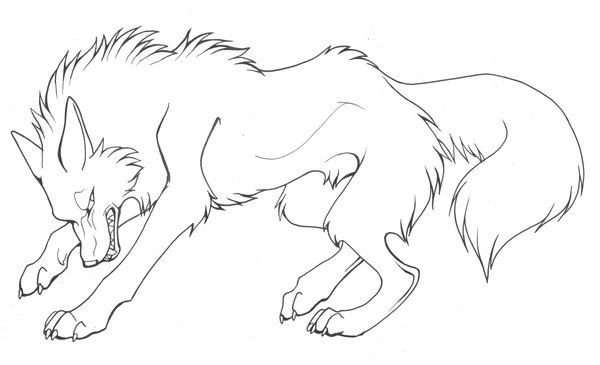 Wolves coloring pages