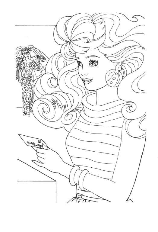 coloring page barbie coloring pages 11