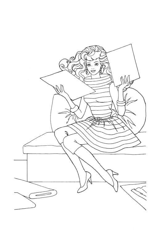 Coloring Page Barbie Coloring Pages 18